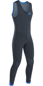 2019 Palm Blaze 3mm GBS Cremallera frontal Long John Wetsuit Jet Gray 12230