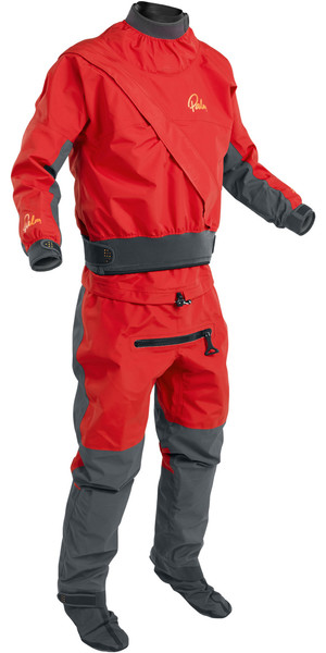 2019 Palm Herren Cascade Front Zip Kajak Drysuit + Drysuit Flame Red 11741