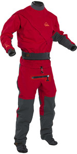 2018 Palm Cascade Front Zip Kayak Drysuit + CON ZIP Red / Black 11741