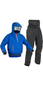 2020 Palm Mens Chinook Kayak Jacket & Zenith Trouser Combi Set - Blue / Grey