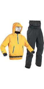 2020 Palm Mens Chinook Kayak Jacket & Zenith Trouser Combi Set - Gold / Grey