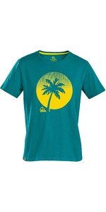 2021 Palm Sunset T-shirt Voor Heren 12593 - Petrol