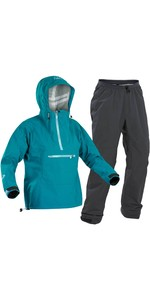 2020 Palm Womens Vantage Kayak Jacket & Vector Trouser Combi Set - Teal / Grey