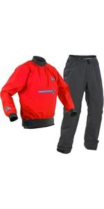 Conjunto De Jaqueta E Calça Caiaque Vector Palm 2020 Para Homem - Vermelho / Cinza