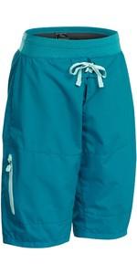 2021 Palm Damen Horizon Kajak Shorts 12615 - Blaugrün