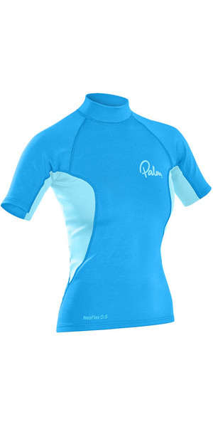 2019 Neo Flex Short Sleeve Palm Womens 0.5mm Thermospan Top Aqua 12188