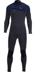 2020 Prolimit Mens Mercury 6/4mm TR Free-X Zip Wetsuit 14010 - Black /Blue