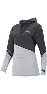 2021 Prolimit Womens Oxygen Wetsuit Hoody 05055 - Black / Grey