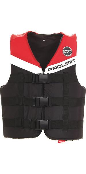 2018 Prolimit 50N 3-Hebilla chaleco de esquí de impacto negro / rojo 53260