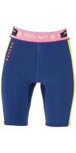 Shorts do neopreno do SUP 2mm das mulheres de Prolimit azuis / rosa 64770