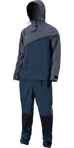 2021 Prolimit Mænds Nordisk Drysuit Front Zip 10000 - Stålblå / Indigo