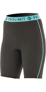 2018 Prolimit Womens 2mm Airmax Neopreno SUP Shorts Negro / Aqua 84780