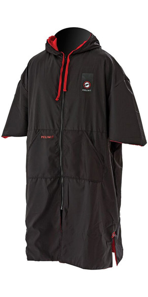 2018 Prolimit Zipper Poncho Xtreme Black / Red 76360