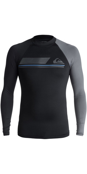 2018 Maglia manica lunga Quiksilver Active Long Sleeve NERO EQYWR03072