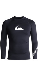 2018 Quiksilver All Time Long Sleeve Rash Vest NAVY BLAZER EQYWR03034
