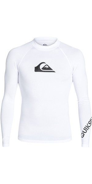 2018 Maglia manica lunga Quiksilver All Time manica lunga BIANCO EQYWR03034