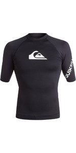 2018 Quiksilver All Time Kurzarm Rash Weste BLACK EQYWR03033