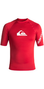 2018 Quiksilver All Time Kurzarm Rash Weste QUICK RED EQYWR03033