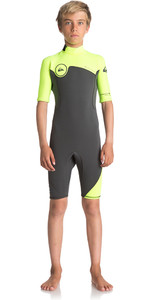Shorty Neopreno Quiksilver Boy's Syncro Series 2mm Back Zip Shorty Jet Black / Safety Yellow Eqbw503004