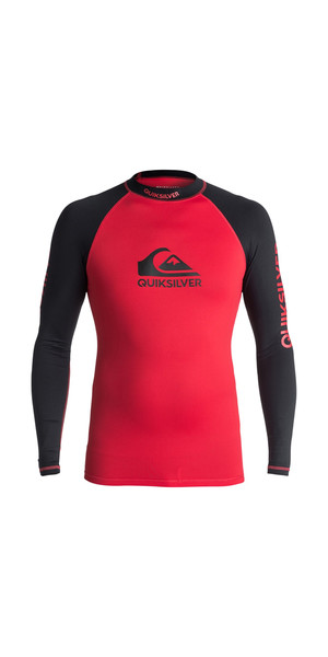 2018 Quiksilver On Tour Langarmrash Vest RED / BLACK EQYWR03076