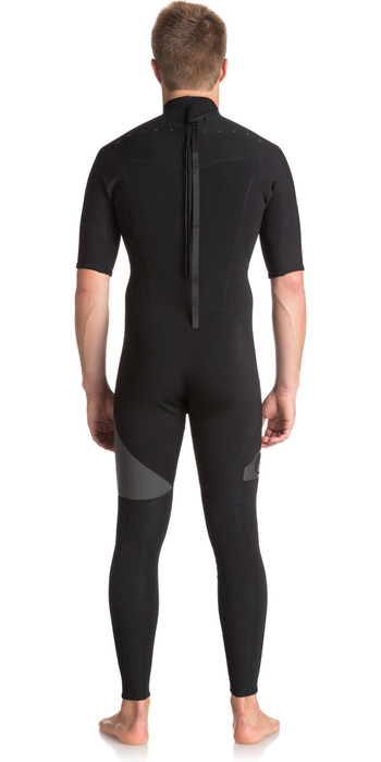 Quiksilver Syncro Series 2mm Manches Courtes Back Zip Sa Combinaison Jet Black Eqyw303005