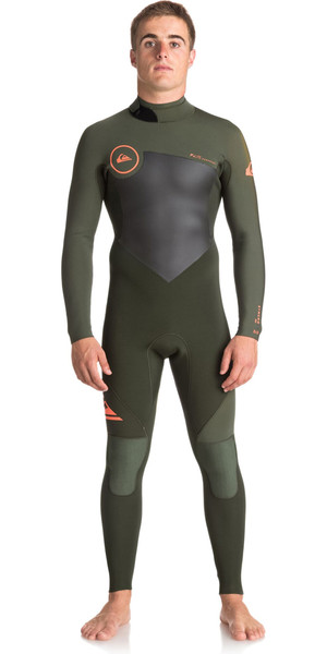 2018 Quiksilver Syncro Series 3 / 2mm GBS Back Zip Combinaison DARK IVY EQYW103037