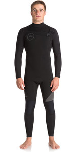 2018 Quiksilver Syncro Series 4/3mm GBS Chest Zip Wetsuit JET BLACK EQYW103042