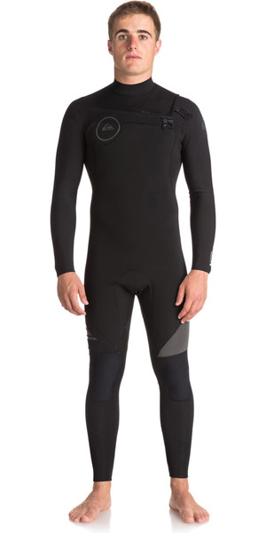2018 Quiksilver Syncro 5/4 / 3mm Chest Zip Wetsuit Negro / Jet Negro EQYW103066