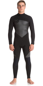 2018 Quiksilver Syncro Series 5/4 / 3mm GBS back Zip natpak JET BLACK EQYW103045
