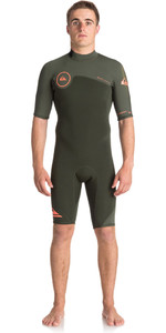 Quiksilver Syncro series 2mm Back Zip Shorty Wetsuit DARK IVY EQYW503006