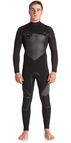 2018 Quiksilver Syncro+ 5/4/3mm Chest Zip GBS Wetsuit JET BLACK EQYW103046
