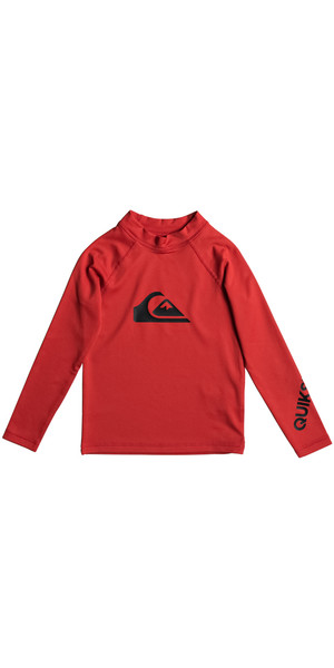 2018 Quiksilver Boys All Time Kid Rash Vest manica lunga QUIK RED EQKWR03020