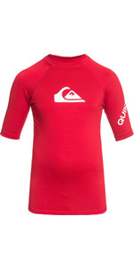 2018 Quiksilver Boys All Time Kurzarm Rash Weste QUICK RED EQBWR03006