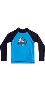 Quiksilver Boys Bubble Dream Rash Vest manica lunga BLU EQKWR03023