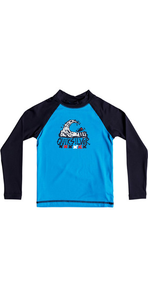 2018 Quiksilver Boys Bubble Dream Langarmrash Vest BLUE EQKWR03023