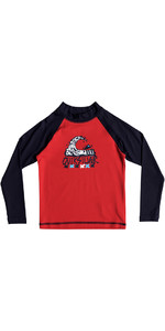 Quiksilver Boys Bubble Dream Rash Vest manica lunga ROSSO EQKWR03023