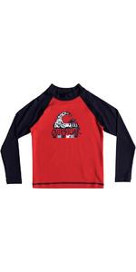 Quiksilver Boys Bubble Dream Langarmrash Vest RED EQKWR03023