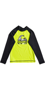 Quiksilver Boys Bubble Dream Long Sleeve Rash Vest SAFETY YELLOW EQKWR03023