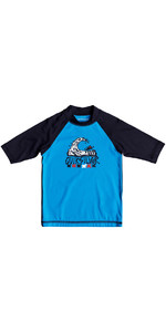 Quiksilver Boys Bubble Dream Rash Vest manica corta BLU EQKWR03024