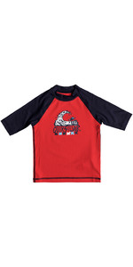 Quiksilver Boys Bubble Dream Rash Vest manica corta ROSSO EQKWR03024
