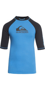 2018 Quiksilver Boys On Tour Kurzarm Rash Weste BRILLIANT BLUE EQBWR03039