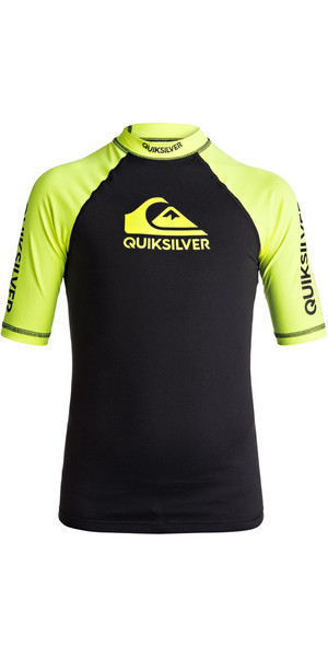 2018 Quiksilver Boys On Tour Manica corta a manica corta SAFETY YELLOW EQBWR03039