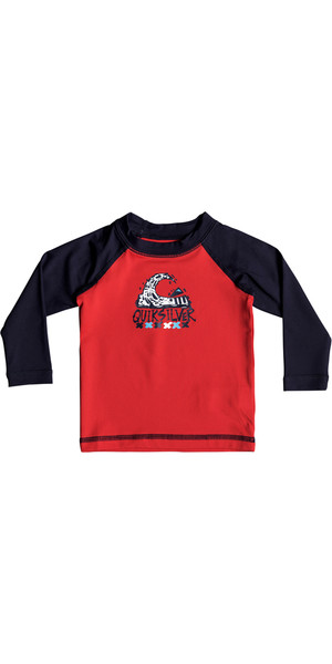2018 Quiksilver Infant Bubble Dream Langarmrash Weste QUIK RED EQIWR03013