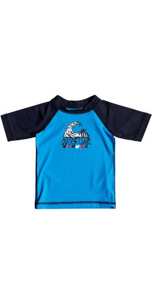 2018 Quiksilver Infant Bubble Dream Kurzarm Rash Weste BLUE EQIWR03014