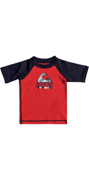 2018 Quiksilver Infant Bubble Dream Kurzarm Rash Weste QUIK RED EQIWR03014