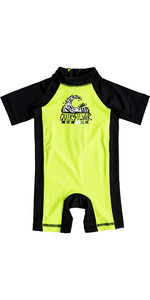 Quiksilver Infant Bubble Spring Rash Suit SEGURIDAD AMARILLO EQIWR03011