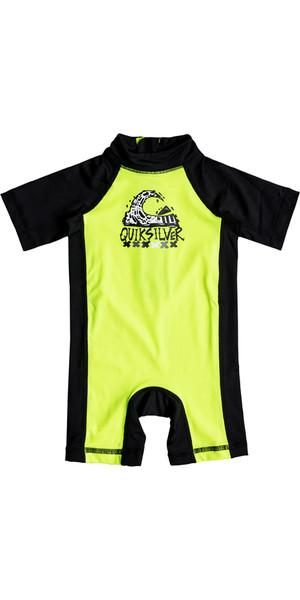 2018 Quiksilver Infant Bubble Spring Rash Suit SAFETY YELLOW EQIWR03011