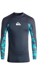 2018 Quiksilver Slash Long Sleeve Rash Vest NAVY / BLUE EQYWR03091
