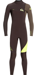 2020 Quiksilver Junior Boys Highline Lite 3/2mm Zipperless Wetsuit Velvet Brown / Dark Beech EQBW103036