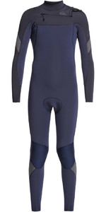 2021 Quiksilver Junior Boy's Syncro 3/2mm Chest Zip Wetsuit Eqbw103051 - Navy